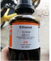 Ethanol Ethyl alcohol C2H5OH chai 500ml Xylong CAS 64-17-5 99.5% cồn 99.5%